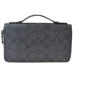 Auth Coach Signature Travel Organizer Long Wallet